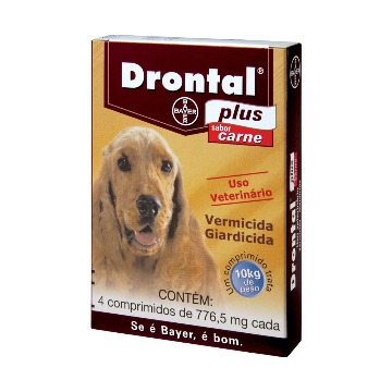 Drontal Plus - Vermicida e Giardicida - 10kg