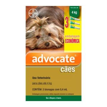 Advocate Cães até 4 kg - Combo