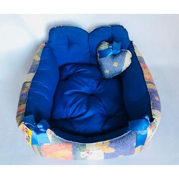 Cama Pet Retangular Globo Pet Tamanho G Azul