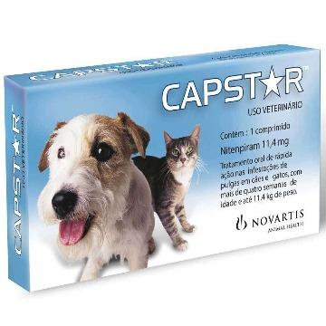 CAPSTAR cães e gatos 11,4 mg - 6 comprimidos