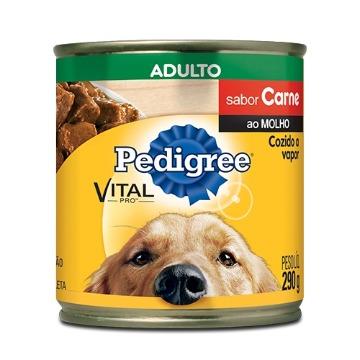 PEDIGREE® Lata Pedaços de Carne ao Molho Lata 280g