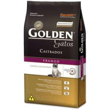 Ração Golden Gatos Adultos Castrados Frango 3,0 kg