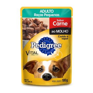 PEDIGREE® Sachê Adulto Raças Pequenas Sabor Carne ao Molho