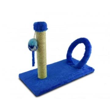 Arranhador Gato retangular com arco - azul