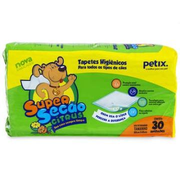 Tapete Higiênico Super Secão Petix com 30 unidades