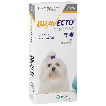 Bravecto para Cães de 2 a 4,5 Kg
