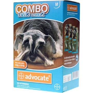 Advocate Cães 4 - 10 kg Combo Leve 3 Pague 2