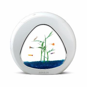 Mini aquário SUNSUN YA-01 3,5 Litros BRANCO Bivolt