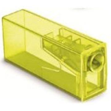 Apontador com Depósito Faber-Castell Neon 125FLVZF