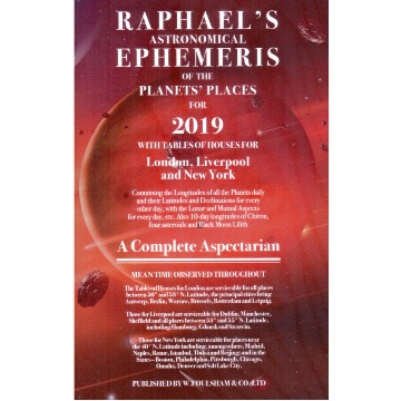 Raphael´s Ephemeris for 2019