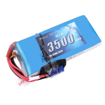BATERIA LIPO Gens ace 2S 7.4V 3500mAh RX Pack with JR and EC3 plug