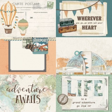 #10459 - 4x6 Elements - Simple Vintage Traveler - Simple Stories