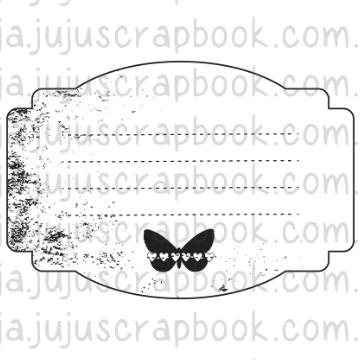 Carimbo Journaling Borboleta - Família para Sempre - Juju Scrapbook