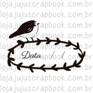 Carimbo Data Passarinho - Floresta Encantada