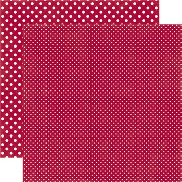 Echo Park - Dots & Stripes - Crimson #DS15043
