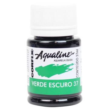 20037 - AQUARELA LÍQUIDA - AQUALINE - VERDE ESCURO 37 -  37ML - CORFIX