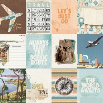 #10457 - 3x4 Elements - Simple Vintage Traveler - Simple Stories