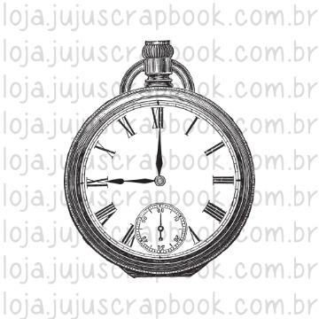 Carimbo Relógio Vintage - Família para Sempre