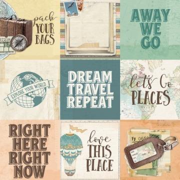 #10458 - 4x4 Elements - Simple Vintage Traveler - Simple Stories