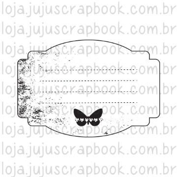 Carimbo Journaling Borboleta - Família para Sempre