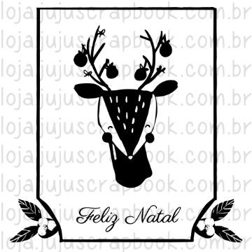 Carimbo Bambi Feliz Natal - Noite Feliz