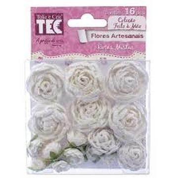 Flores Artesanais Rosas Mistas Pureza – Toke e Crie – 16962 (FLOR119)