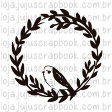 Carimbo Guirlanda Passarinho - Floresta Encantada