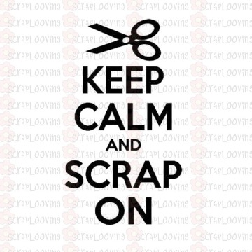 "Carimbo ""KeepCalm and Scrap On"" Código 1134"