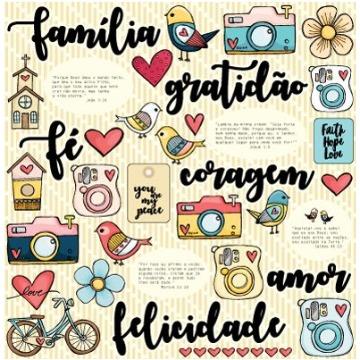 PP120 - FELICIDADE - GRATIDÃO FÉ E DEUS - GOODIES