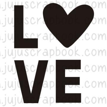Carimbo LOVE - Família para Sempre - Juju Scrapbook