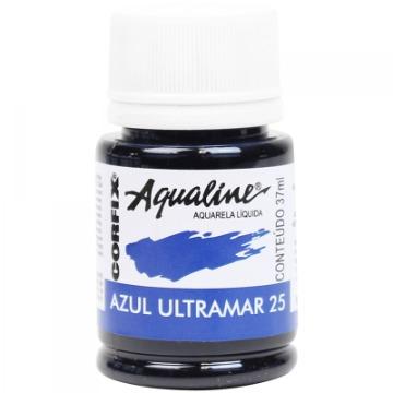20037 - AQUARELA LÍQUIDA - AQUALINE - AZUL ULTRAMAR 25 - 37 ML - CORFIX