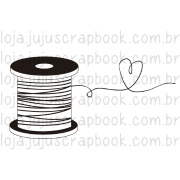 Carimbo Carretel - Love Scrap