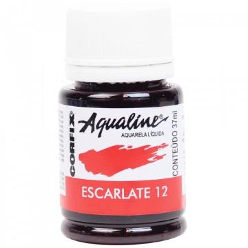 20037 - AQUARELA LÍQUIDA - AQUALINE - ESCARLATE 12 -  37ML - CORFIX