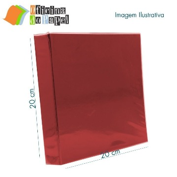 0603013 Álbum 21x21 Vermelho