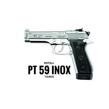 PISTOLA TAURUS PT59S 19 TIROS .380ACP INOX FOSCO ZARELHO