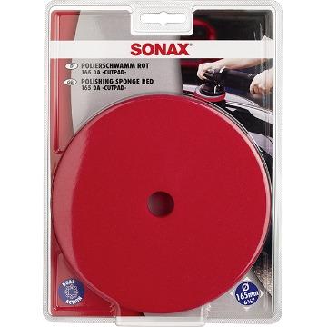SONAX Boina de Espuma Vermelha 165 mm c/ Furo