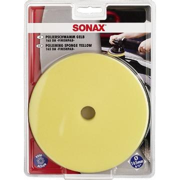 SONAX Boina de Espuma Amarela 165 mm c/ Furo