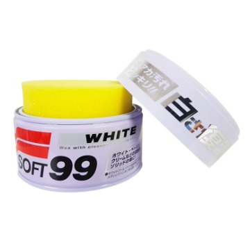 CERA PARA CARROS DE CORES CLARAS  -  WHITE WAX CLEANER - 350G SOFT99