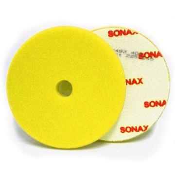 SONAX BOINA DE ESPUMA AMARELA 143MM (5pol) C/FURO REFINO