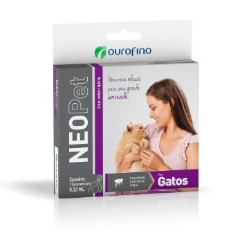 Antipulgas Neopet Gatos 0,32ml Ourofino Neo Pet Anti Pulgas
