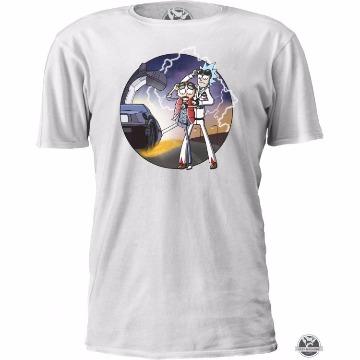 Camiseta Rick & Morty De Volta Pro Futuro Masculino Feminino Infantil Gola V Babylook Camisa Blusa - Filme