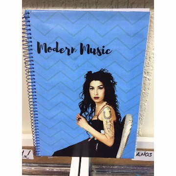 CADERNO MODERN MUSIC - AMY WINEHOUSE