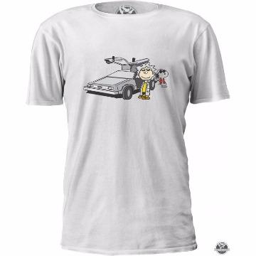 Camiseta De Volta Pro Futuro Snoopy Dog Charlie Brown Masculino Feminino
