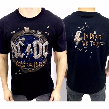 CAMISETA ACDC - ROCK OR BUST- G