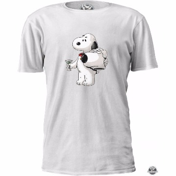 Camiseta Snoopy Dog Brian Family Guy - Cartoon - Tamanho M