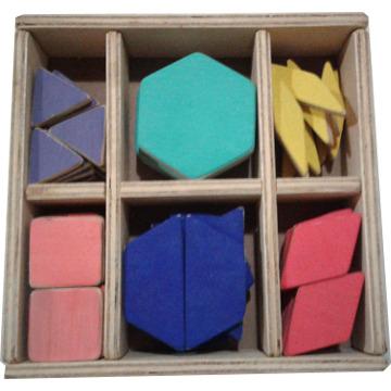 Caixa de peças para mosaico