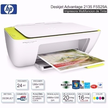 Impressora Multifuncional HP DeskJet Ink Advantage 2135
