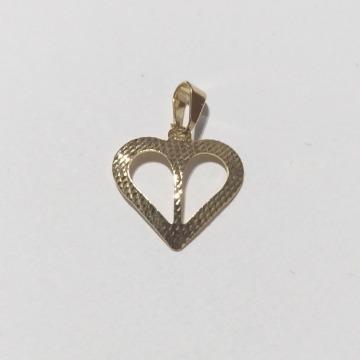 Pingente Banhado a Ouro 18k Coração