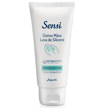 Creme Hidratante Desodorante Hidratação Protetora para as Mãos Sensi Luva de Silicone - 75 g (11726)