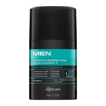 Men Hidratante Facial Protetor Multi 6 em 1, 48ml